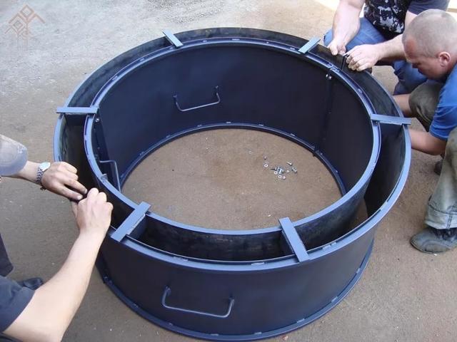 Форма для колодезного кольца своими руками 14